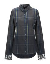 TWIN-SET Tartan Long Sleeves Cotton Shirts & Blouses