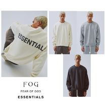 FEAR OF GOD ESSENTIALS Crew Neck Street Style Long Sleeves Plain Cotton