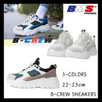 BMS FRANCE Casual Style Collaboration Low-Top Sneakers
