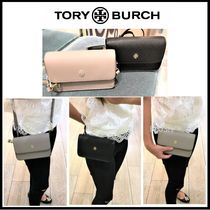 Tory Burch Saffiano 3WAY Plain Shoulder Bags