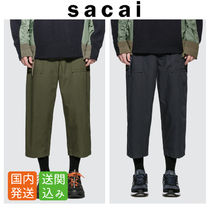 sacai Street Style Plain Cropped Pants