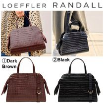 Loeffler Randall Casual Style Plain Other Animal Patterns Leather