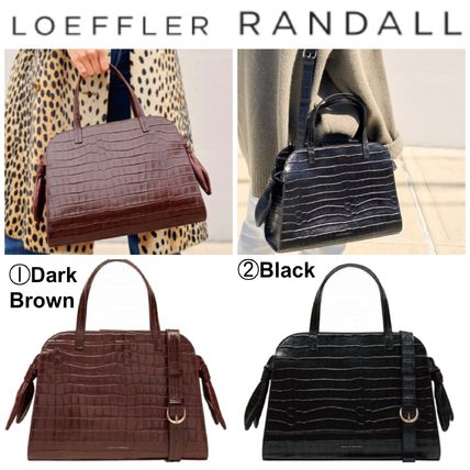 Casual Style Plain Other Animal Patterns Leather