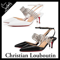 Christian Louboutin Blended Fabrics Studded Other Animal Patterns Pin Heels