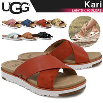 UGG Australia KARI Casual Style Plain Footbed Sandals Flat Sandals