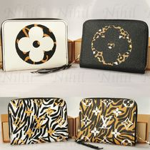 Louis Vuitton ZIPPY COIN PURSE Monogram Leopard Patterns Coin Purses