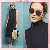 Anthropologie Flower Patterns Casual Style A-line Blended Fabrics