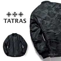 TATRAS Short Tropical Patterns Blended Fabrics Street Style MA-1
