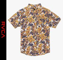 RVCA Camouflage Street Style Short Sleeves Shirts