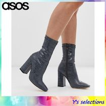 ASOS Casual Style Faux Fur Street Style Block Heels
