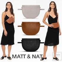 MATT&NAT Casual Style 3WAY Plain PVC Clothing Elegant Style Hip Packs