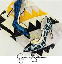Jessica Simpson Blended Fabrics Street Style Plain Pointed Toe Pumps & Mules