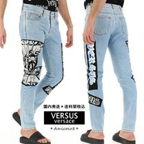 VERSACE Tapered Pants Street Style Cotton Jeans & Denim