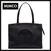 MIMCO Casual Style Tassel A4 Plain Oversized Totes