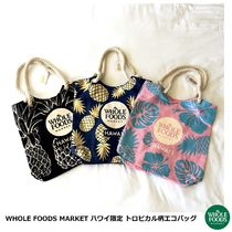 WHOLE FOODS MARKET Tropical Patterns Casual Style Canvas Collaboration A4 Logo