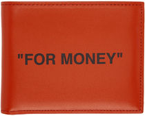 Off-White Unisex Street Style Leather Folding Wallets