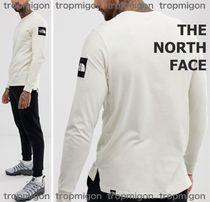 THE NORTH FACE Crew Neck Unisex Street Style Long Sleeves Plain Cotton