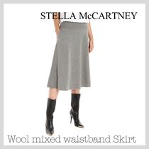Stella McCartney Wool Plain Long Maxi Skirts