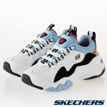 SKECHERS Round Toe Casual Style Street Style Collaboration Plain