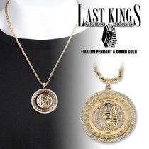 last kings Unisex Street Style Chain 18K Gold Necklaces & Chokers