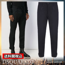 D SQUARED2 Wool Blended Fabrics Plain Cropped Pants
