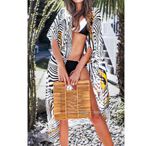 CUPSHE Zebra Patterns Beach Cover-Ups