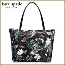 kate spade new york Flower Patterns Casual Style A4 Totes