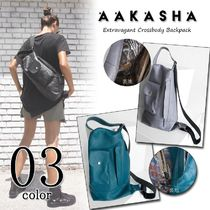 Aakasha Casual Style 3WAY Plain Leather Crossbody Bags