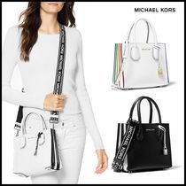 Michael Kors MERCER Casual Style Leather Totes
