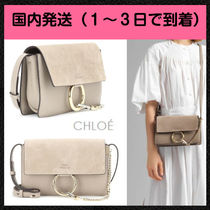 Chloe Faye Casual Style 2WAY Plain Leather Shoulder Bags