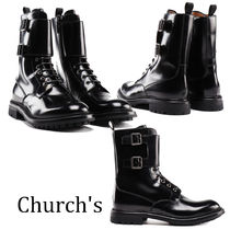 Church's Round Toe Rubber Sole Lace-up Casual Style Street Style