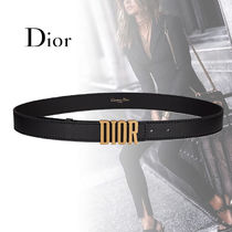 Christian Dior Casual Style Unisex Street Style Plain Leather Belts