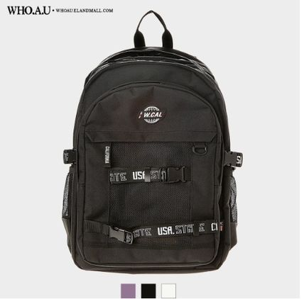 Casual Style Unisex Street Style PVC Clothing Logo Backpacks