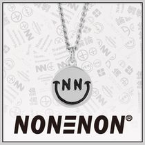 NONENON Unisex Street Style Silver Necklaces & Chokers