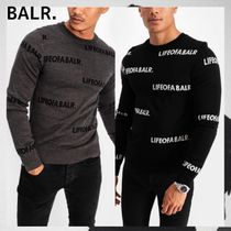BALR Crew Neck Street Style Long Sleeves Sweaters