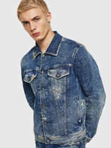 DIESEL Short Denim Street Style Plain Denim Jackets Jackets