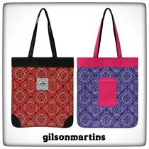 gilsonmartins Other Check Patterns Casual Style A4 Handmade Totes
