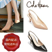 Cole Haan Plain Leather Pin Heels Party Style