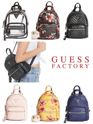 Faux Fur 2WAY Crystal Clear Bags Backpacks