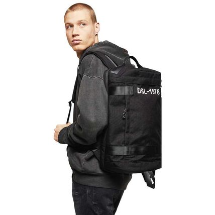 DIESEL Unisex Street Style A4 2WAY Plain PVC Clothing Backpacks
