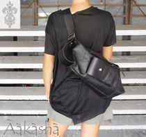 Aakasha Unisex 3WAY Plain Leather Handmade Backpacks