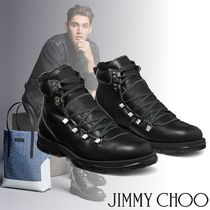 Jimmy Choo Mountain Boots Plain Leather Outdoor Boots