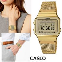 CASIO Unisex Square Stainless Digital Watches
