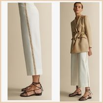 Massimo Dutti Casual Style Plain Cotton Medium Culottes & Gaucho Pants