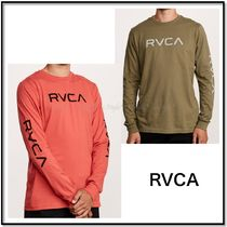 RVCA Crew Neck Street Style Long Sleeves Plain