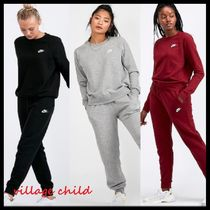 Nike Crew Neck Casual Style Sweat Blended Fabrics Long Sleeves