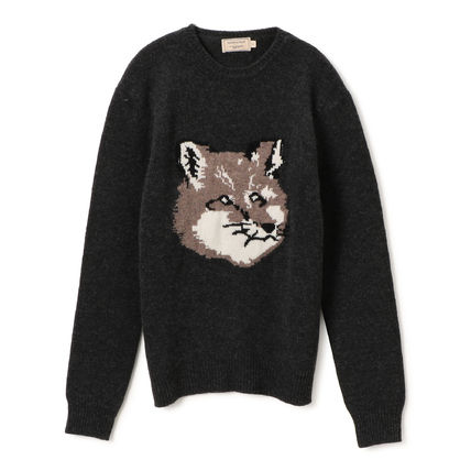 Pullovers Wool Long Sleeves Other Animal Patterns Designers