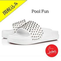 Christian Louboutin Studded Shower Shoes Shower Sandals