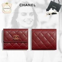 CHANEL Lambskin Folding Wallets