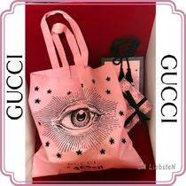 GUCCI Unisex Canvas Street Style A4 Shoppers